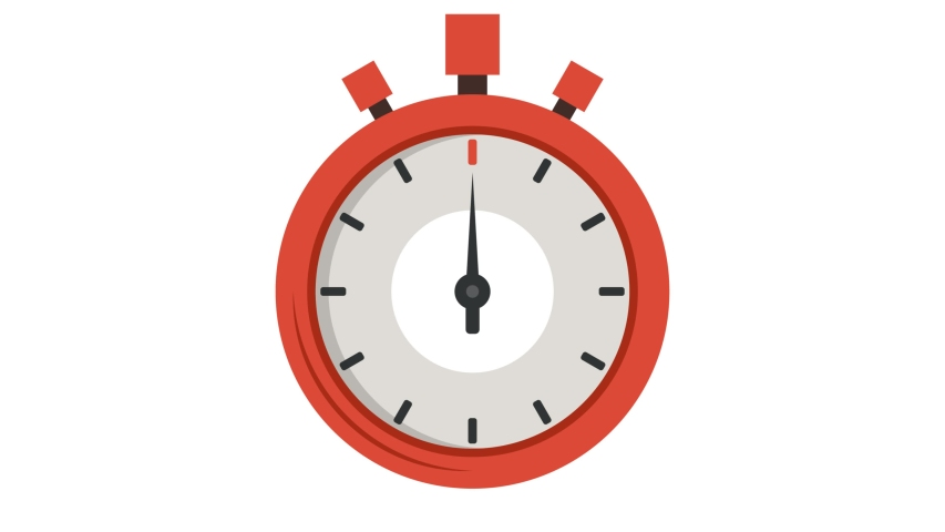 Red stopwatch icon. Cartoon animation. 4K resolution. [object Object] | Shutterstock HD Video #1042274200