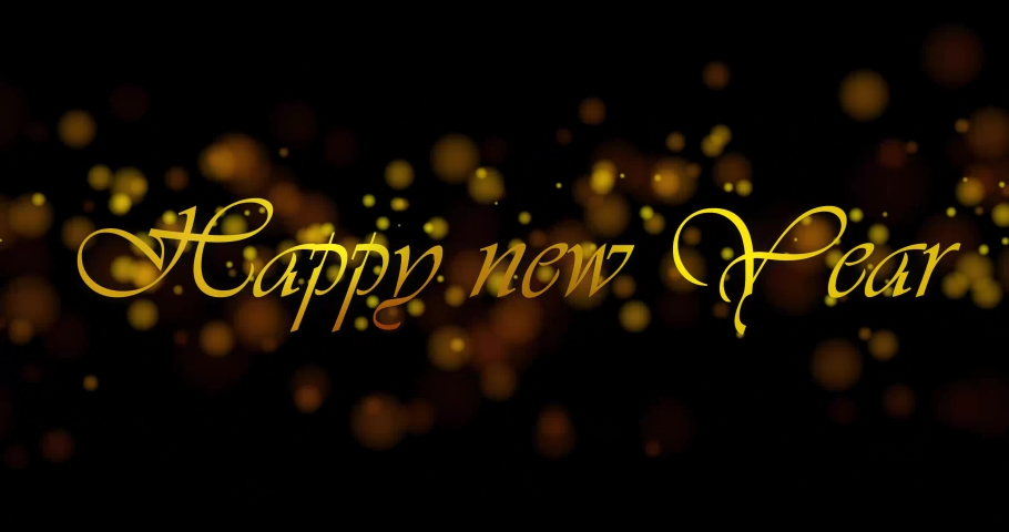 Happy new year text/word/letter/stamp/sign/seal 4k footage video | Shutterstock HD Video #1042648840
