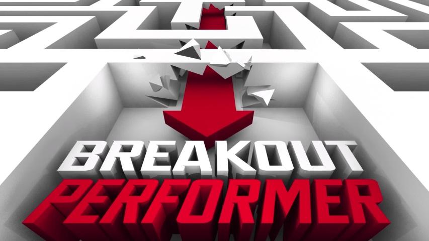 Breakout Performer Surprise Great Job Done Maze Breakthrough 3d Animation   Shutterstock HD Video #1042665970