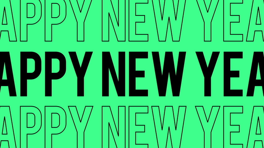 Happy New Year Social Media flat text design. Trendy pop colors for a fun 2020 | Shutterstock HD Video #1043204890