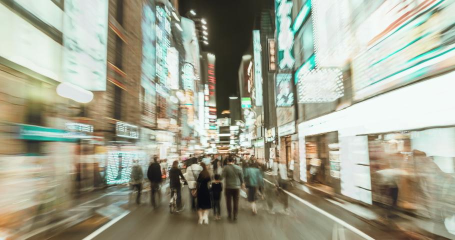 Hyperlapse of  Kabukicho in Shinjuku Tokyo. Japan | Shutterstock HD Video #1043287930
