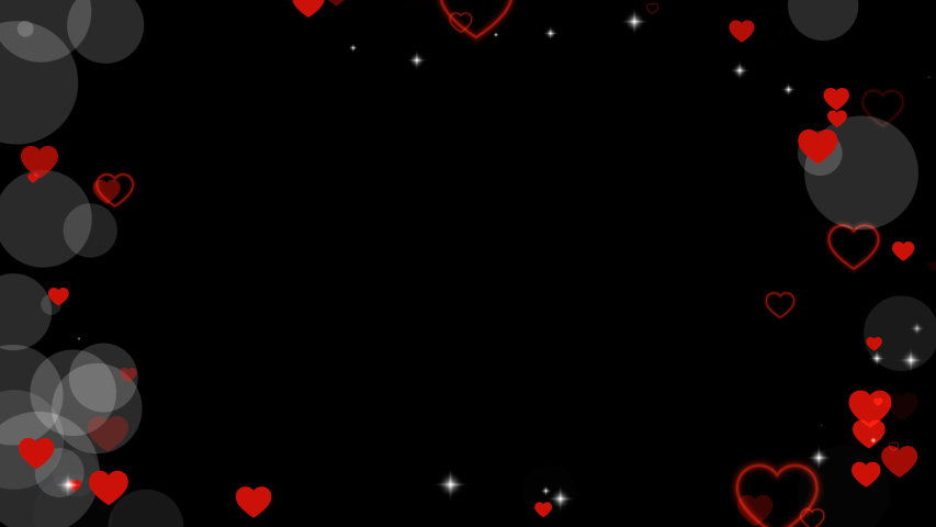 Valentine's day animated frame of hearts for overlay on video. Greeting love frame of hearts. Festive border decoration of bokeh, sparkles, hearts for valentine's day. Alpha channel, seamless loop | Shutterstock HD Video #1044252100
