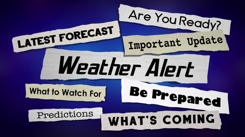 Weather Update News Headlines Storm Info Emergency Announcement 3d Animation   Shutterstock HD Video #1044912130