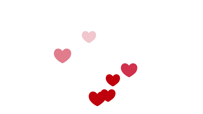 Loves with hearts in a flat style. Alpha channel.   Shutterstock HD Video #1044956620