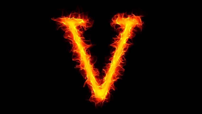 Letter Y On Fire Stock Footage Video 1045039 | Shutterstock