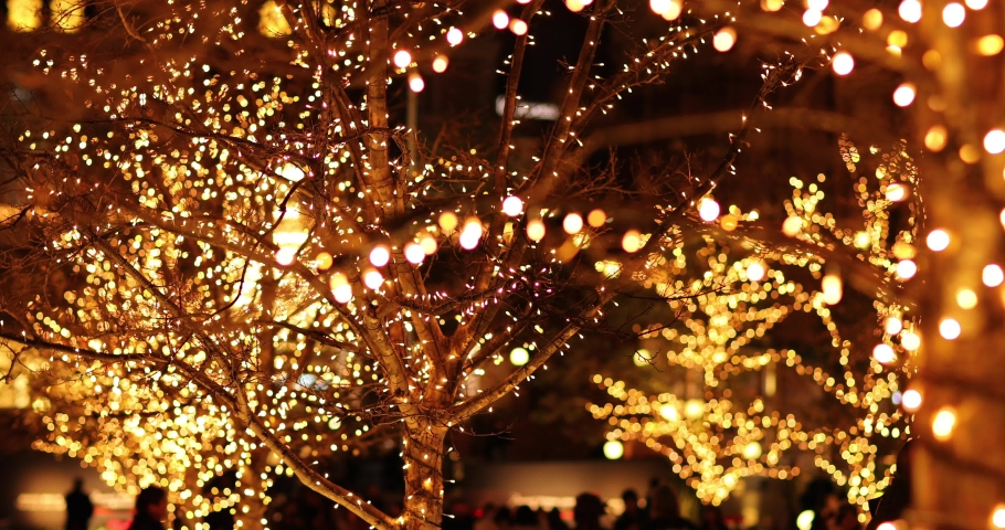 Footage of Christmas illuminations downtown Tokyo | Shutterstock HD Video #1045143910