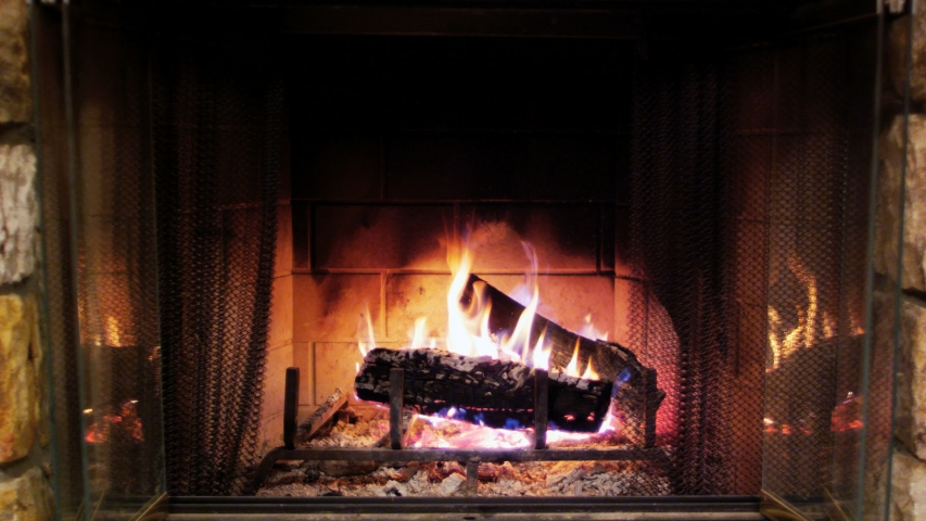 Cozy Fire Place In A Room | Shutterstock HD Video #1046592010