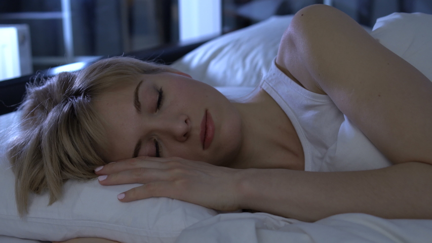 Beautiful girl sighing heavily missing her beloved man, long separation, closeup | Shutterstock HD Video #1046648110