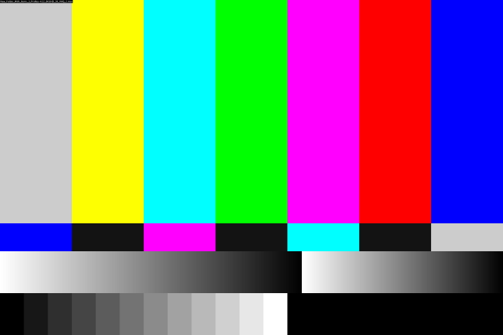 """Modern version for """"Tv broadcast interrupted"""" in full color 