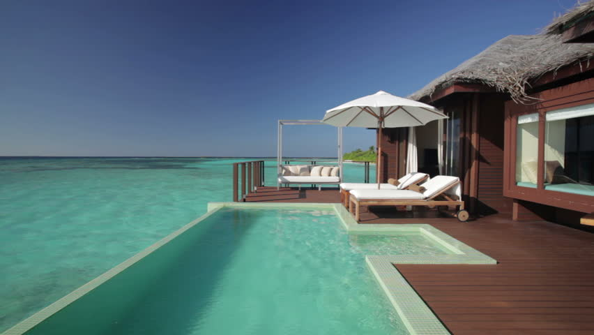 Nice Overwater Bungalow Terrace With Pool And Audio Stock Footage Video 1047160  | Shutterstock