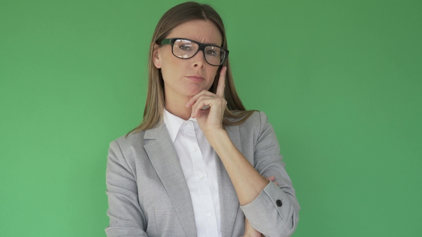 Businesswoman standing on green screen, isolated | Shutterstock HD Video #1047332740