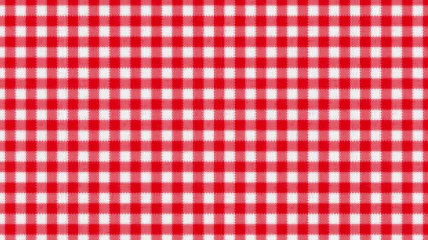 Gingham red and white weave effect pattern tablecloth rotating in a seamless loop   Shutterstock HD Video #1047336760