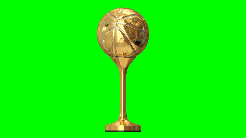 Animated spinning simple shining gold or first place basketball trophy, Gold ball with silver seam and with gold stand and black stand base trim. Full 360 degree spin and loop able.   Shutterstock HD Video #1047364750