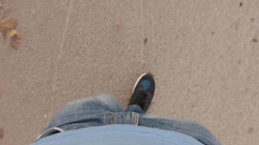 A man walk on the asphalt road | Shutterstock HD Video #1047625990