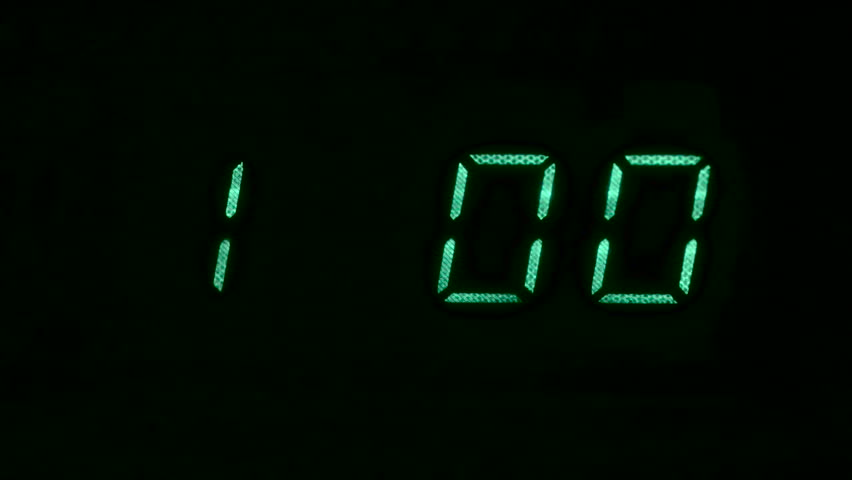 Microwave Oven Counting Down From One Minute Hd Stock Footage Clip