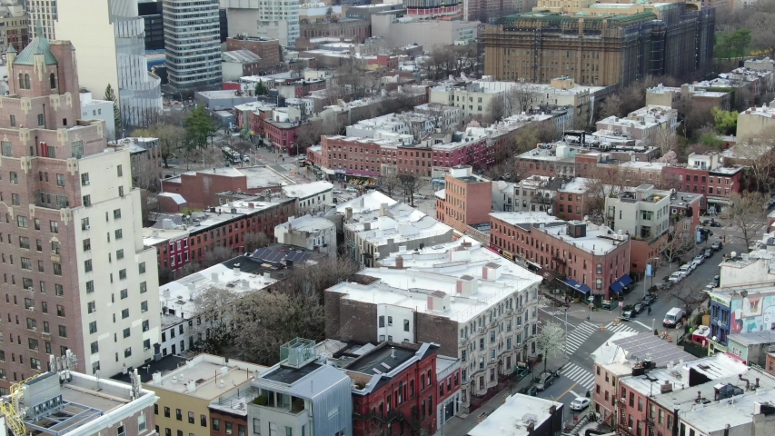 Brooklyn, New York / USA - March 20, 2020: Downtown Brooklyn, New York During Coronavirus Outbreak | Shutterstock HD Video #1049258890
