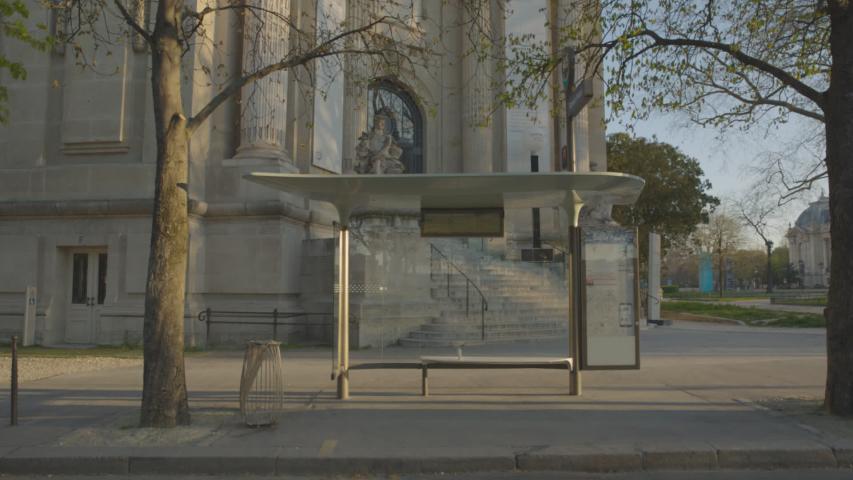 Bus stop Abribus Vide Paris Coronavirus Confinement | Shutterstock HD Video #1049307310