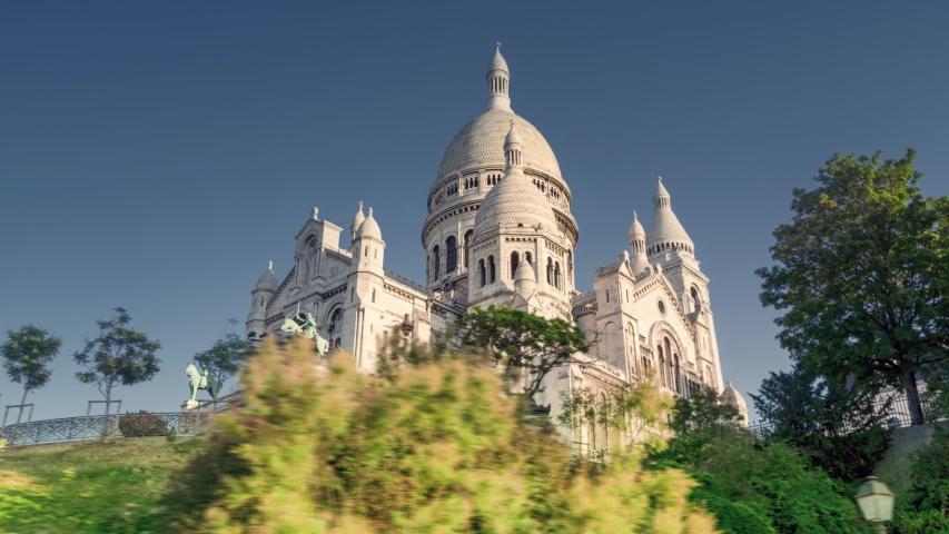 Hyperlapse, Basilica of the Sacre Coeur, Montmartre, Paris | Shutterstock HD Video #1049311420