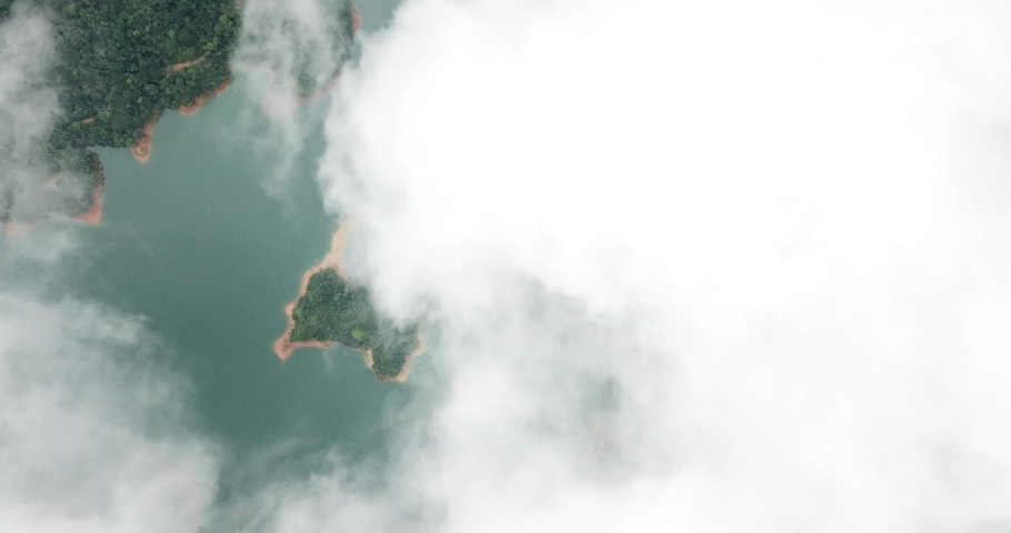Aerial view of Discovery Bay on Lantau Island in Hong Kong | Shutterstock HD Video #1049561290