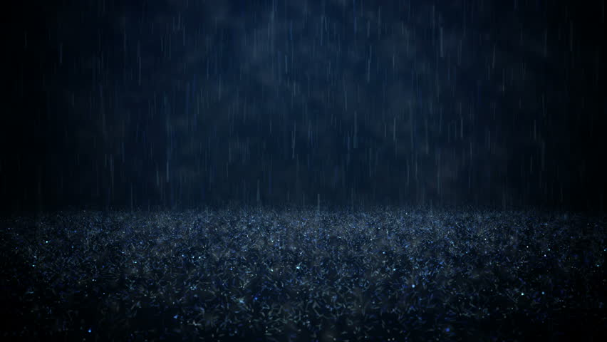 Video Stock A Tema Rain On Darkly Blue Background 100 Royalty Free