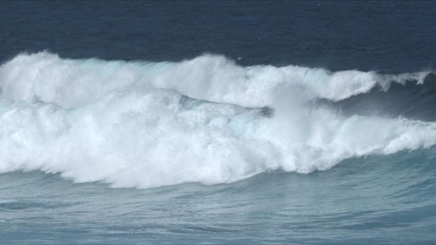 Powerful Waves breaking in the sea, Fuerteventura, Canary Islands. | Shutterstock HD Video #1049651680
