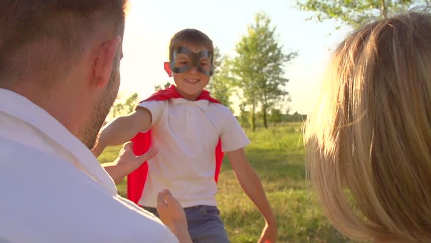 Little hero mom royalty-free stock footage