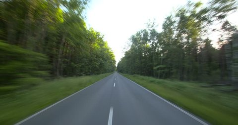 Driving a car - POV - 4K+ - Forest Road  - Part 3 of 4 Shot on roof-mounted Sony PXW FS7. This shot was split into a series of takes, that can be put back together for the original length clip.