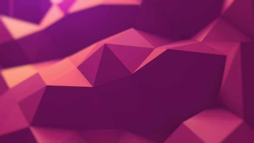 Smooth Polygons Waves Perfect seamless loop of slowmotion polygon waves. Background animation. 4K, UHD.
