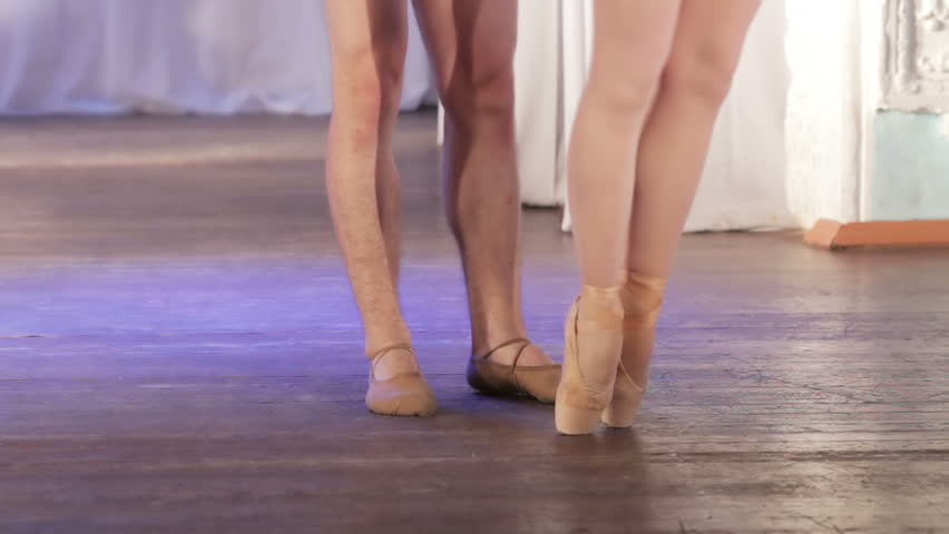 On stage legs dancing ballet couple | Shutterstock HD Video #10571930
