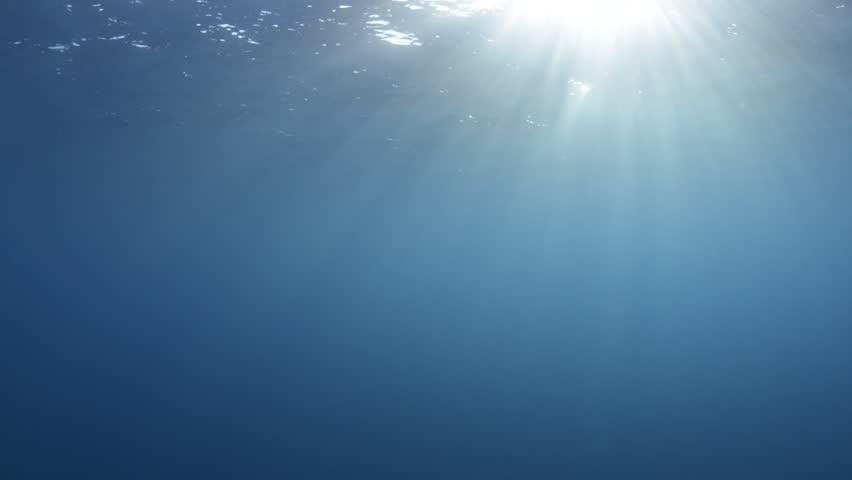 Beautiful Sunrays Penetrating Oceans Surface | Shutterstock HD Video #10611590