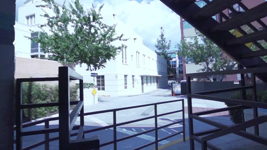 Parkour / Freerunning Running Vault over Railing in Slow Motion | Shutterstock HD Video #10613810