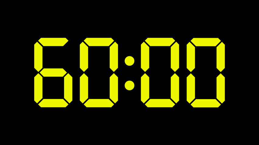 Digital Timer Countdown of 60 Stock Footage Video (100% Royalty-free)  10670990 | Shutterstock