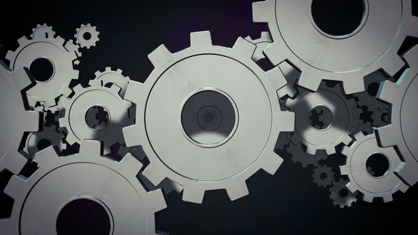 Spinning gears and cogs machine seamless loop