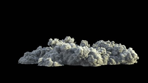 4K smoke explosion, shockwave effect isolated on black background, with alpha, ready for compositing (uhd 3840x2160, ultra high definition, 1920x1080, 1080p) high detailed huge smoke