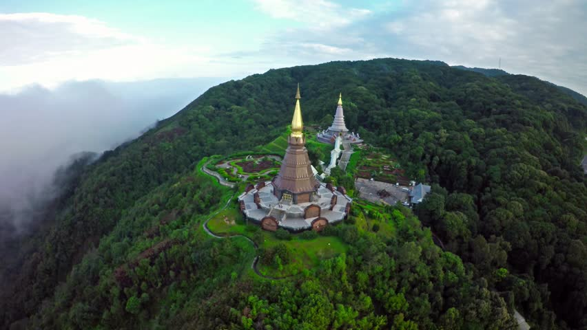 Aerial Shot at Doi Inthanon Chiang Mai,Thailand