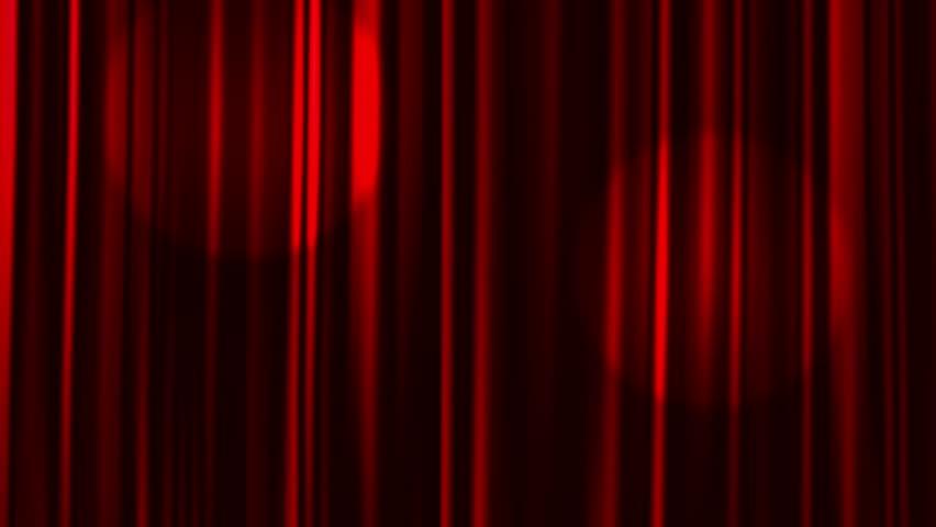 Red Curtains Open with Spotlights plus Alpha Matte.  | Shutterstock HD Video #10836290