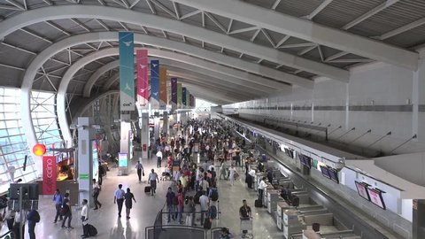 MUMBAI, INDIA - July 01, 2015: Time lapse at Domestic airport terminal on July 01, 2015 in Mumbai, India.