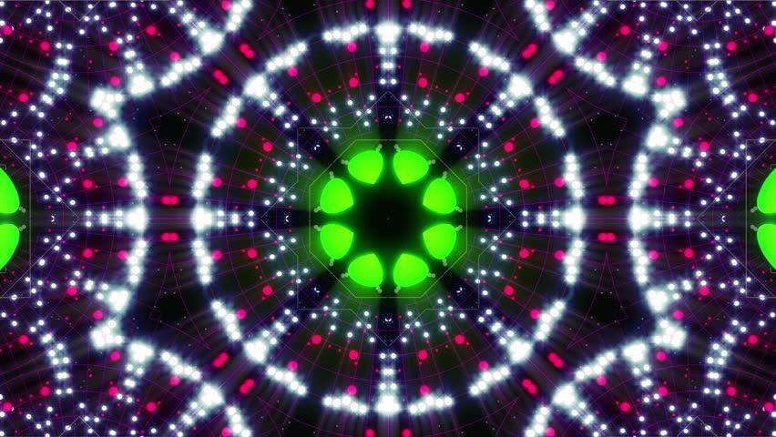 4k Disco Hypnotic Light Centerd Vj Loop Disco Effect: Hypnotic Kaleidoscope Stage Visual Loop For Concert, Night