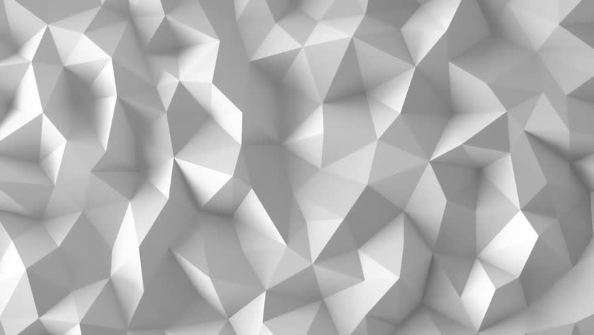 white low poly abstract background. seamlessly loopable. stock