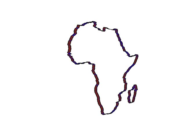 Africa Continent Draw Animation Stock Footage Video 100 Royalty