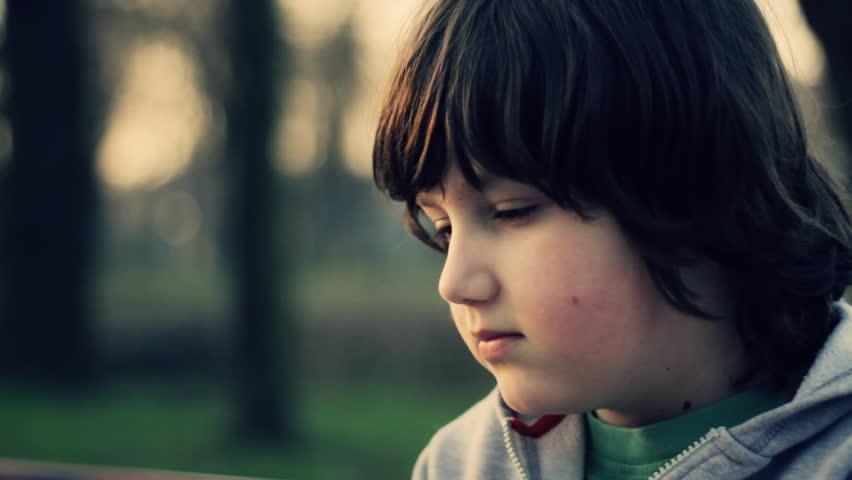 Young lonely sad boy portrait,  #1107877