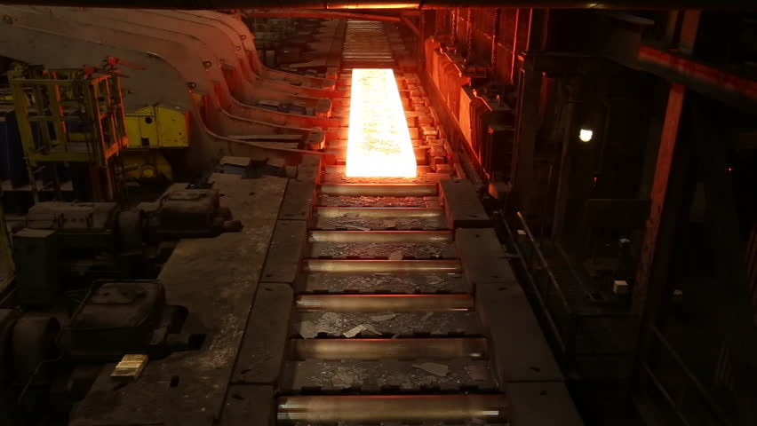 Mining and metal forging .Large Steel Works. Rolled metal factory.