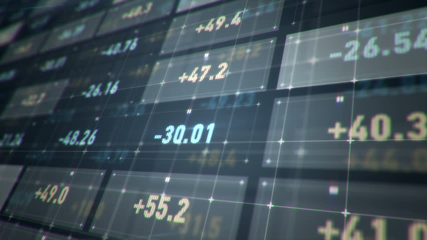 Abstract background with motion of Stock market screen. Financial and Stock backdrop. Counters of numbers of Stock shares or Currency rates . Animation of seamless loop. | Shutterstock HD Video #11128940