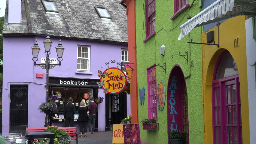 kinsale county corkireland july 15 2015 unidentified tourists visit brightly - Cork Restaurant 2015
