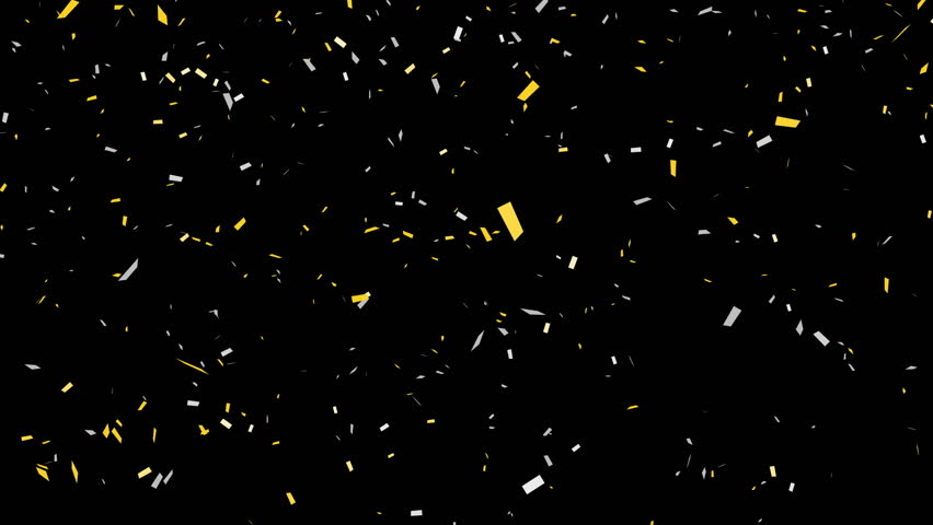 Gold and silver confetti – alpha channel included