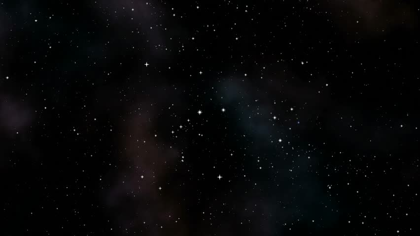 A night sky with a twinkling star field.