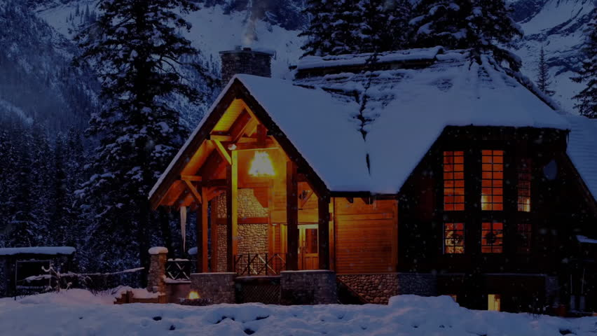 Snow Night In The Mountain Winter House Stock Footage Video 11173190 Shutterstock