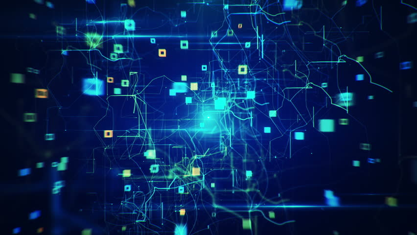 Abstract Background of Technology Network. Stock Footage