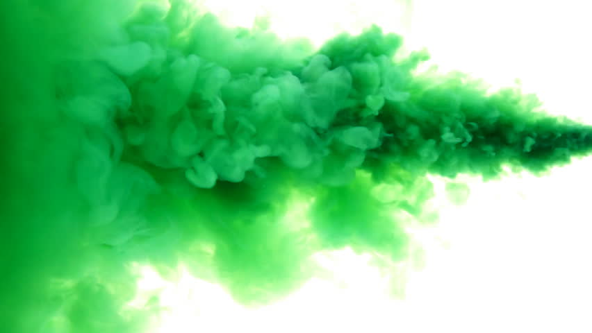 Colored Ink Spreading In Water Colored Smoke Wiping