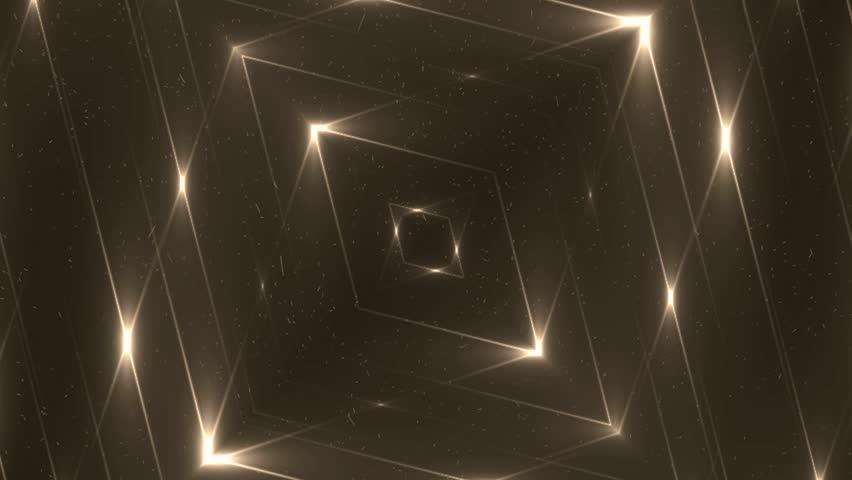 Fractal gold kaleidoscopic background. Background motion with fractal design. Disco spectrum lights concert spot bulb. VJ Seamless loop | Shutterstock HD Video #11247842